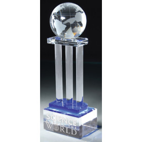 Crystal Globe on Pillars