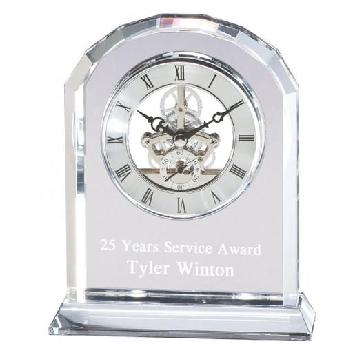 Round Top Crystal Clock