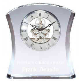 Crystal Curved Skeleton Clock