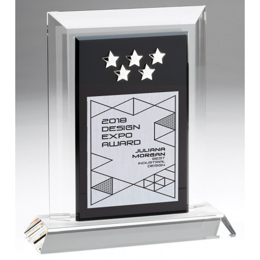 5-Star Optical Crystal Plaque