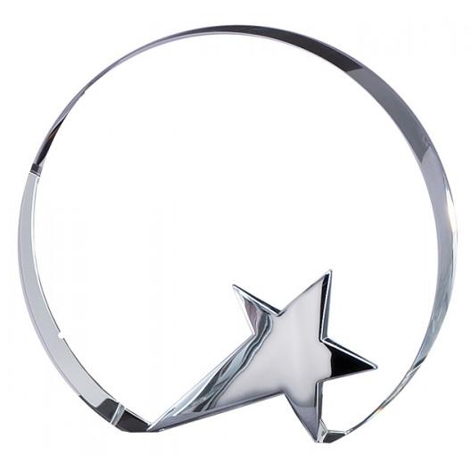 Chrome Star Crystal Circle