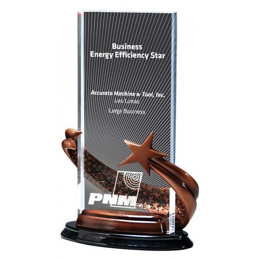 Bronze Brilliance Star Award in Rectangle Radiant Pattern