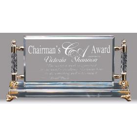 Framed Crystal Rectangle Award