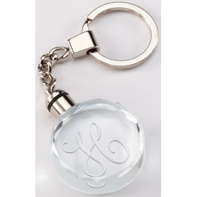 Crystal Round Keychain