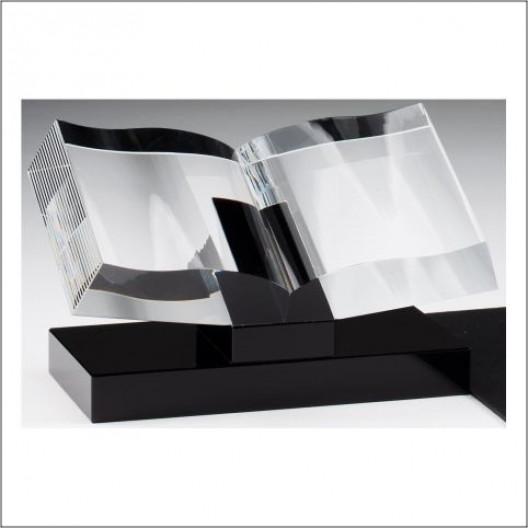 Crystal Book on Black Base