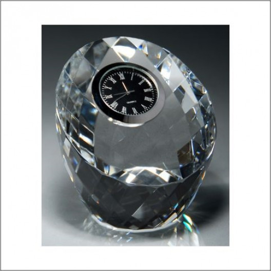 Crystal Clock Paperweight