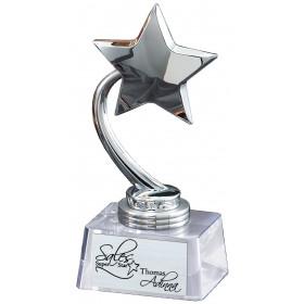 Chrome 5-Point Star