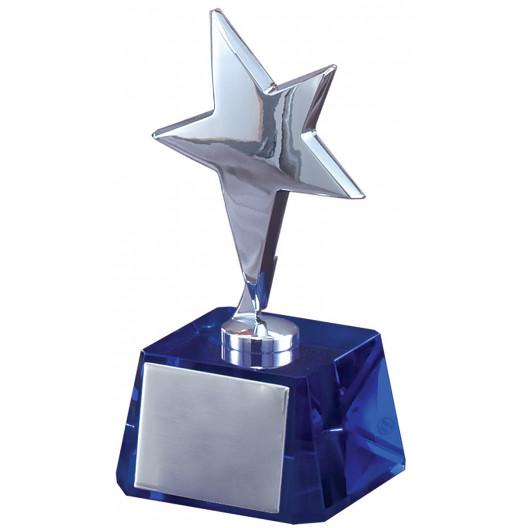 Silver Star on Blue Base