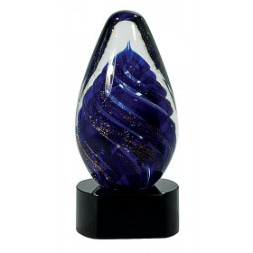 Blue Tear Drop Art Glass