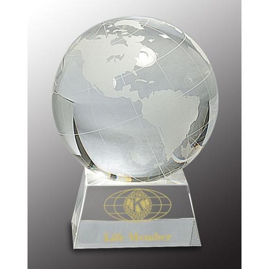 Crystal Globe on Clear Base