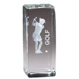 Collegiate Series Golf Crystal