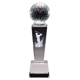 Collegiate Sport Crystal - Golf