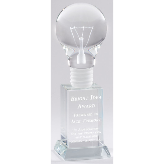 Bright Idea Light Bulb Crystal