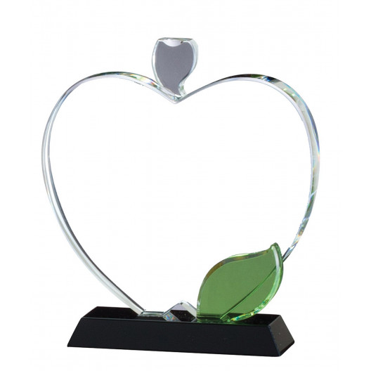 Crystal Apple with Color Leaf