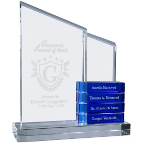 Crystal Perpetual Standing Plaque