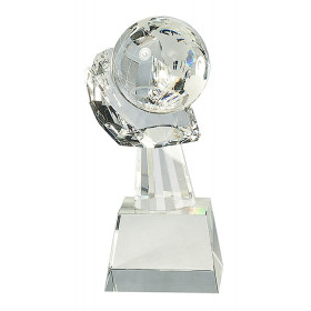 Clear Crystal Globe in Hand
