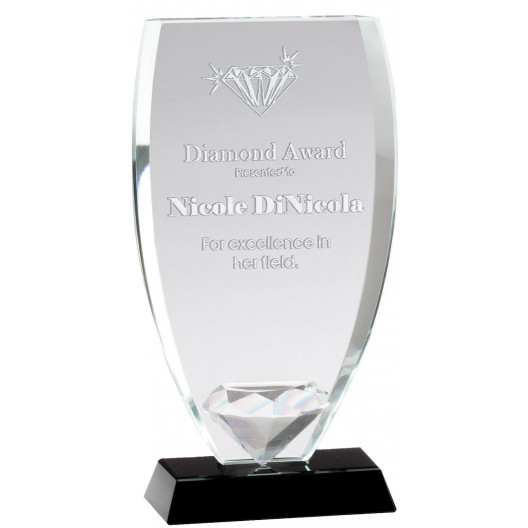 Diamond Shield Glass Award