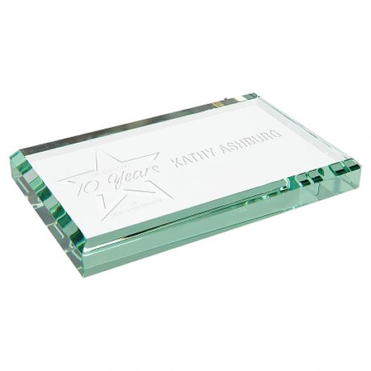 Jade Glass Paperweight