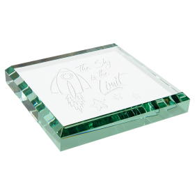 Jade Glass Paperweight