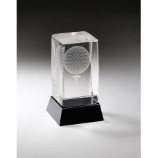 3D Engraved Golf Crystal