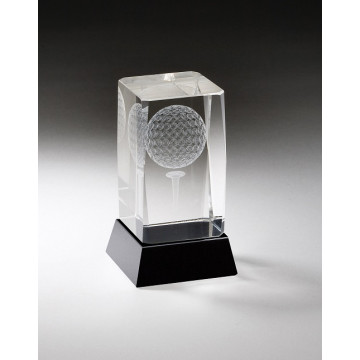 3D Engraved Golf Crystal