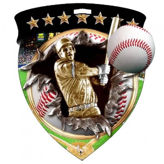 Color Shield Medal - Baseball