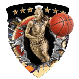 Color Shield Medal - Female Basketball