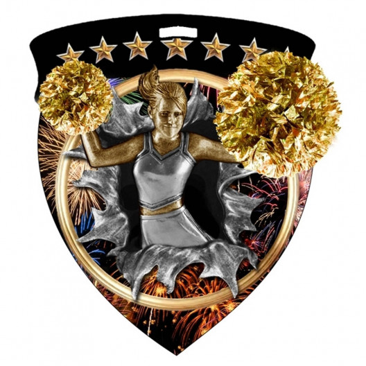 Color Shield Medal - Cheer
