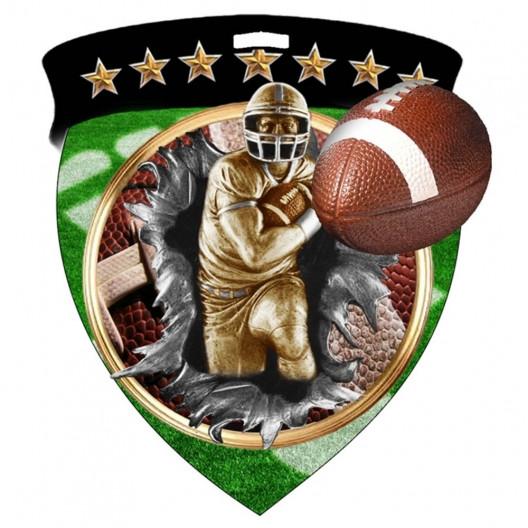 Color Shield Medal - Football