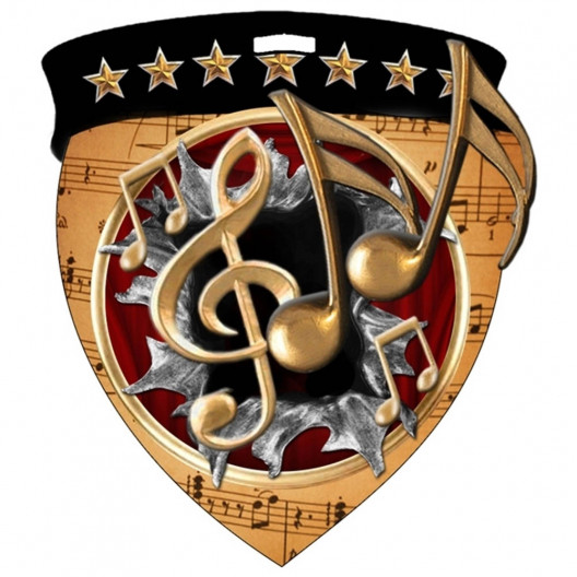 Color Shield Medal - Music