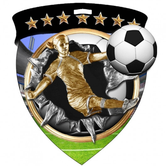 Color Shield Medal - Female Soccer