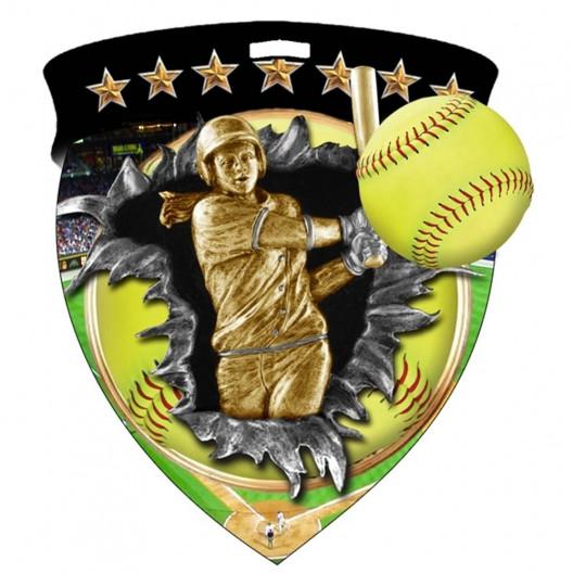 Color Shield Medal - Softball