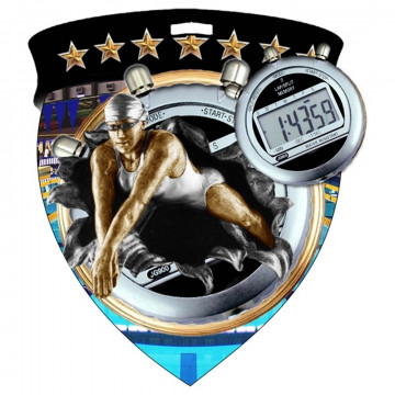 Color Shield Medal - Female Swimming