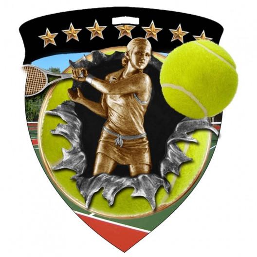 Color Shield Medal - Female Tennis