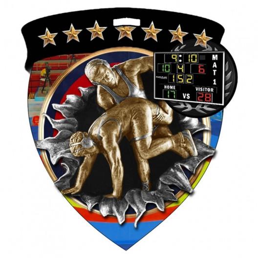 Color Shield Medal - Wrestling