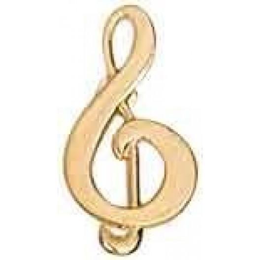 Music Treble Clef Chenille Pin