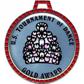"Custom 2.5"" Single Jewel Ring Medal"
