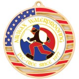 "Custom 2.75"" American Flag Medal"
