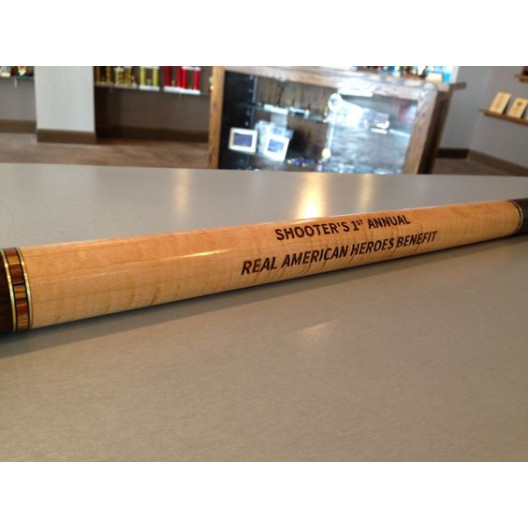 Engraved Cue Stick