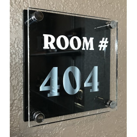 Acrylic Two Layer Wall Sign - Square
