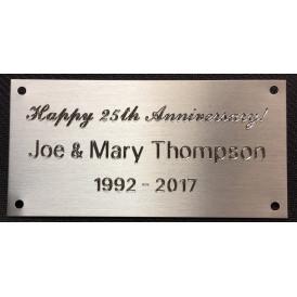 Metal Plate with Custom Diamond Drag Engraving
