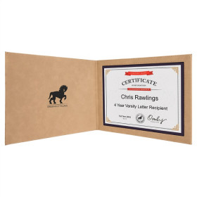 "Leatherette Certificate Holder for 8 1/2"" x 11"""