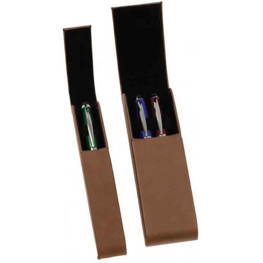Leatherette Single & Double Pen Cases