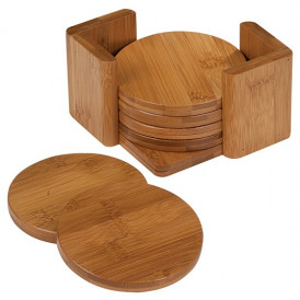 Bamboo 6-Coaster Set