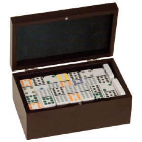 Rosewood Finish Dominos Set
