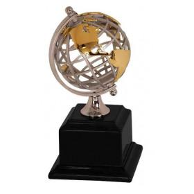 Gold/Silver Metal Globe
