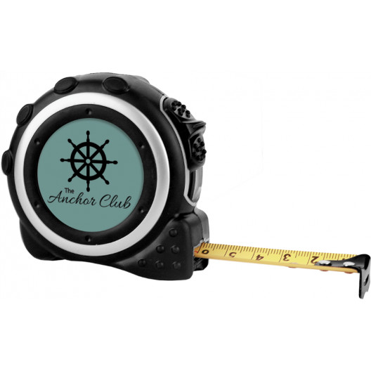 Black/Silver Tape Measure with Belt Clip