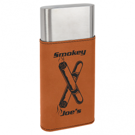 Laserable Leatherette Cigar Cases with Cutters