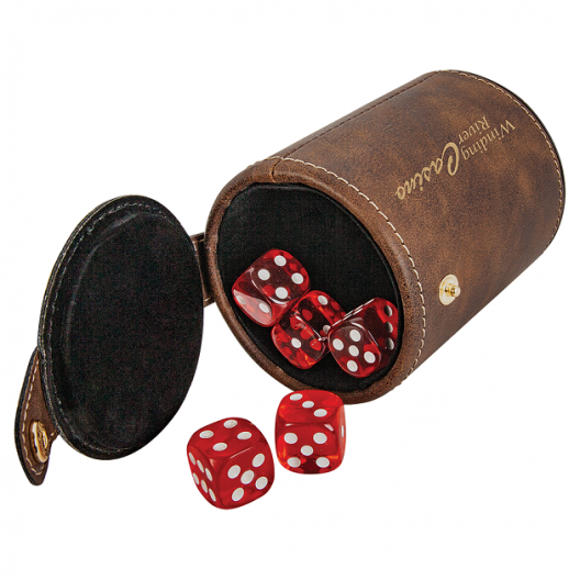 Laserable Leatherette Dice Cup