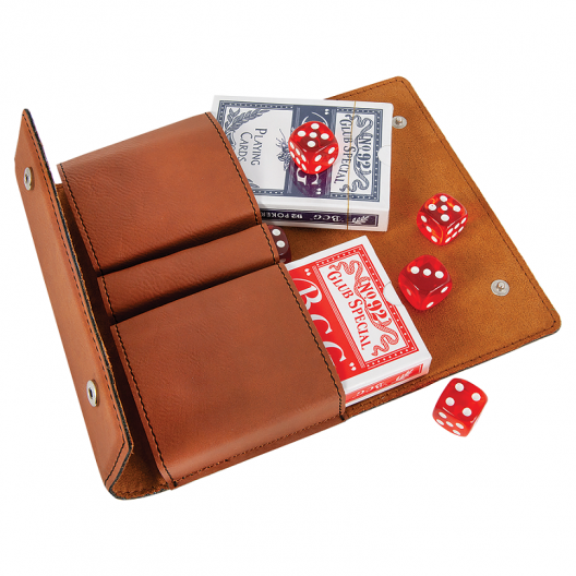 Laserable Leatherette Card & Dice Set